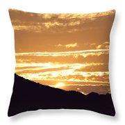 Sundown Throw Pillow by Caroline Lomeli