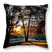 Sundown In Stanley Park Throw Pillow by Will Borden