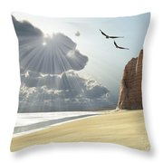 Sunlight Shines Down On Two Birds Throw Pillow by Corey Ford