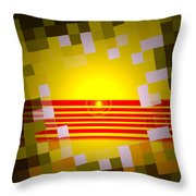 Sunrise Abstract Digital Painting Throw Pillow by Heinz G Mielke