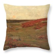 Sunrise In Autumn Throw Pillow by Childe Hassam