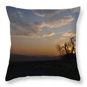 Sunrise Over Sand Pass Throw Pillow by Kurt Golgart