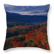 Sunrise View From Meadow Creek Lookout Throw Pillow by Raymond Gehman