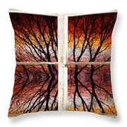 Sunset Abstract Rustic Picture Window View Throw Pillow by James BO  Insogna