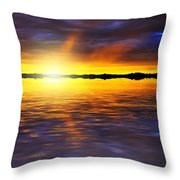 Sunset By The River Throw Pillow by Svetlana Sewell