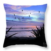 Sunset Down Under Throw Pillow by Karen Lewis