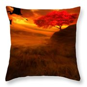 Sunset Duet Throw Pillow by Lourry Legarde