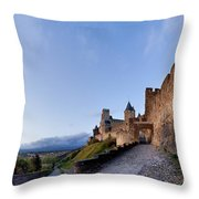 Sunset in Carcassonne Throw Pillow by Robert Lacy