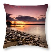 Sunset On The Rocks Throw Pillow by Cale Best