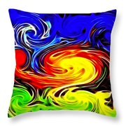 Sunset Swirl Throw Pillow by Stephen Younts