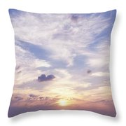 Sunsets Over The Beach, Magheraroarty Throw Pillow by The Irish Image Collection