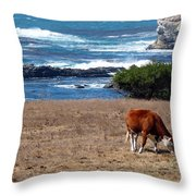 Surf And Turf  Throw Pillow by Jeff Lowe