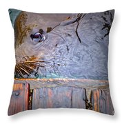 Surfacing Throw Pillow by Gwyn Newcombe