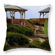 Surfs Up Throw Pillow by Karen Wiles