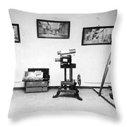 Surveillance Equipment, 19th Century Throw Pillow by Science Source