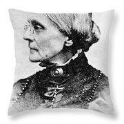 Susan B. Anthony, American Civil Rights Throw Pillow by Photo Researchers, Inc.