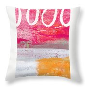 Sweet Summer Day Throw Pillow by Linda Woods