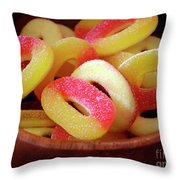 Sweeter Candys Throw Pillow by Carlos Caetano