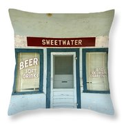 Sweetwater Store Throw Pillow by Jeff Lowe