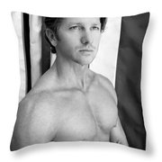 Swimmer 1 Throw Pillow by William Dey