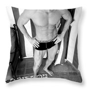 Swimmer 5 Throw Pillow by William Dey