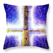 Sword with sparks Throw Pillow by Garry Gay