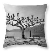 sycamore trees in Ascona - Ticino Throw Pillow by Joana Kruse