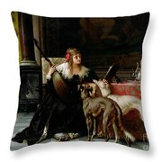 Sympathetic Friends Throw Pillow by Florent Willems