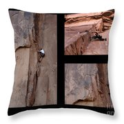 Take Action With Caption Throw Pillow by Bob Christopher