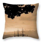 Tall Ship Gorch Fock Throw Pillow by Gaspar Avila