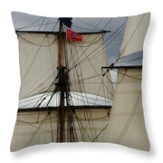 Tall Ships Throw Pillow by Bob Christopher