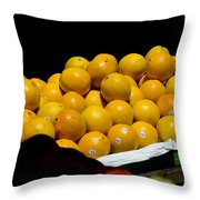 Tangerines For Sale Throw Pillow by Tim Mulina