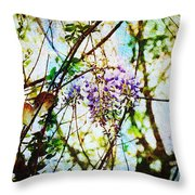 Tangled Wisteria Throw Pillow by Andee Design