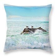 Tasman Sea Throw Pillow by MotHaiBaPhoto Prints