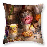 Tea Party - The Magic Of A Tea Party  Throw Pillow by Mike Savad