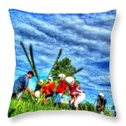 Teaching The Basics 2 Throw Pillow by Dan Stone