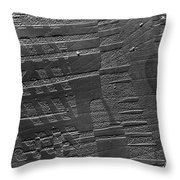 Tem Of A Crystal Of Barium Titanate Throw Pillow by Omikron