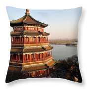 Temple Of The Fragrant Buddha Throw Pillow by Mike Reid