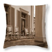 Tennessee Plantation Porch Throw Pillow by Carol Groenen
