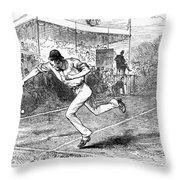 Tennis: Wimbledon, 1880 Throw Pillow by Granger