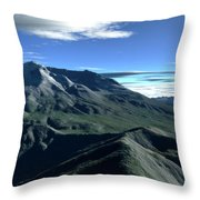 Terragen Render Of Mt. St. Helens Throw Pillow by Rhys Taylor