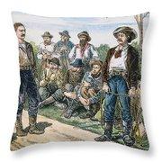 Texas Vigilantes, C1881 Throw Pillow by Granger