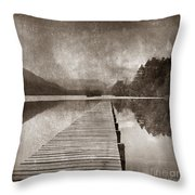 Textured lake Throw Pillow by BERNARD JAUBERT