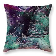 Textures Of The Heart Throw Pillow by Linda Sannuti