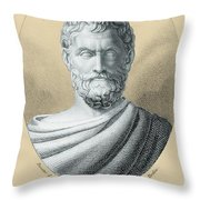 Thales, Ancient Greek Philosopher Throw Pillow by Photo Researchers, Inc.