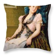 The Afternoon Rest Throw Pillow by John Morgan