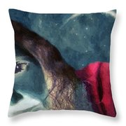 The Agony Of Saint Catherine Throw Pillow by RC DeWinter