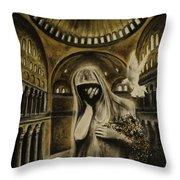 The Arrival Throw Pillow by Carla Carson
