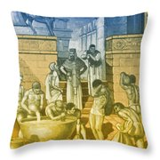 The Art Of Brewing, Babylon Throw Pillow by Science Source