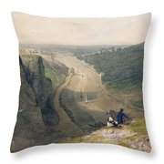 The Avon Gorge - Looking Over Clifton Throw Pillow by Francis Danby